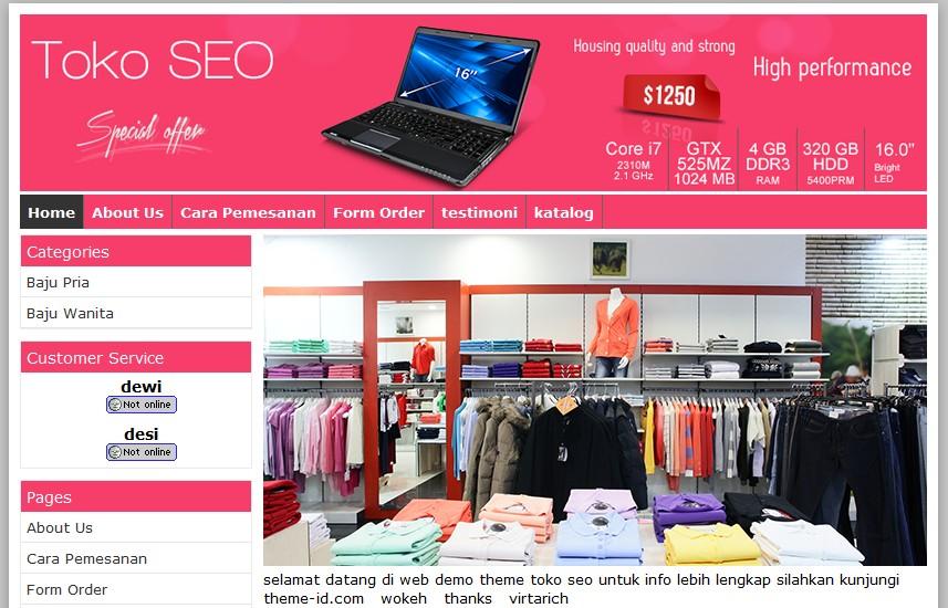 toko seo theme-id pusathosting