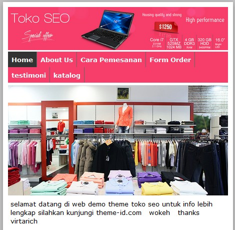toko seo theme-id responsive layout - pusathosting