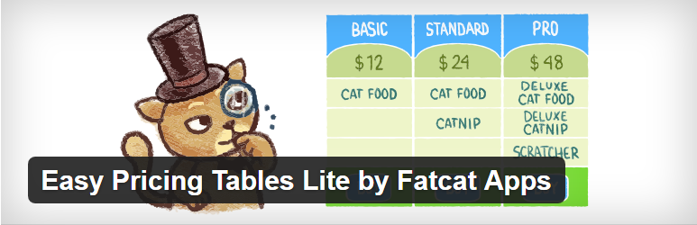 Easy Pricing Tables Lite